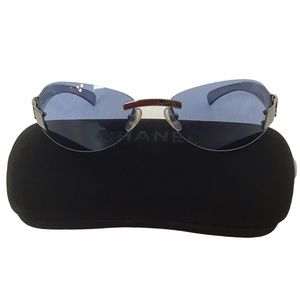 Chanel Blue Radiant Rimless Sunglasses from Italy